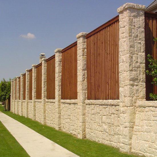Austin Chopped Stone - Fence